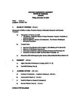 WWU Board minutes 2003 December