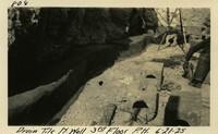 Lower Baker River dam construction 1925-06-21 Drain Tile N. Wall 3rd Floor P.H.