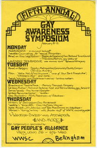 Fifth Annual Gay Awareness Symposium