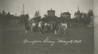 1927 Campus Day: Raking the Grass