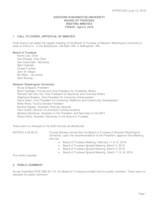 WWU Board of Trustees Minutes: 2016-04-08