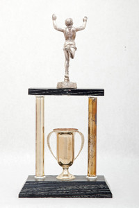 Cross-Country Running (Men's) Trophy: Evergreen Conference Champions (back), 1957