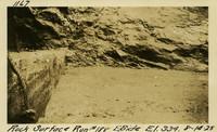 Lower Baker River dam construction 1925-08-14 Rock Surface Run #188 E. Side El.334