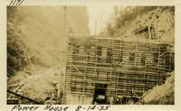 Lower Baker River dam construction 1925-08-14 Power House