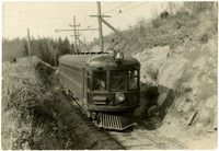 Interurban rail car on Seattle to Bellingham railway