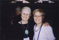 2007 Reunion--Mary (Stimpson) Rivken and Dorothy Stimpson at the Banquet