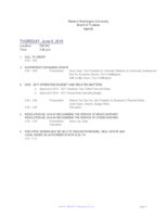 WWU Board of Trustees Packet: 2016-06-09
