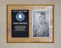 Hall of Fame Plaque: Chuck Erickson, Football, Men's Tennis, Track and Field, Class of 1968
