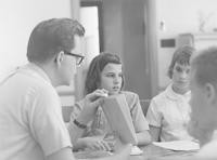 1964 Leslie Crawford With Sixth Grade Students