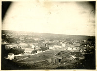 Northerly view of houses of formerly Sehome, Washington, from Sehome Hill
