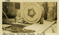 Lower Baker River dam construction 1925-08-15 Rear View Turbine Runner