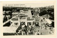 Birdseye view of amusement park