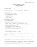 WWU Board of Trustees Minutes: 2016-05-10