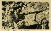 Lower Baker River dam construction 1924-10-10 Base construction