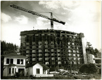 Nash Hall, a dormitory on the campus of Western Washington University, under construction