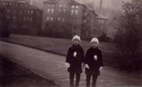 1934 Pattison Twins On Campus Near Training School