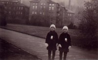 1934 Pattison Twins On Campus Near Training School