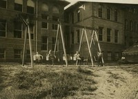 1911 Training School Swings With Main Building in Background