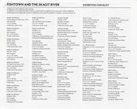 Fishtown and the Skagit River Exhibition Checklist