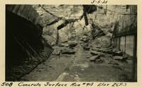 Lower Baker River dam construction 1925-05-05 Concrete Surface Run #94 Elev 269.3