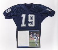 Football Photograph and Jersey: Photograph of Michael Koenen and Jersey #19, list of             honors and awards, 2002/2004
