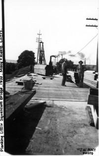 Planking Little Squalicum Bridge