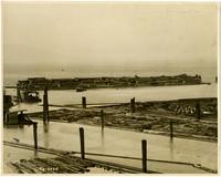 Log rafts in Bellingham Bay
