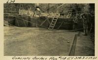 Lower Baker River dam construction 1925-05-29 Concrete Surface Run #118 El.314.3