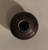 Sukhothai jarlet, globular body with brown glaze