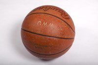 Basketball (Women's): Signed basketball (side 1), undated