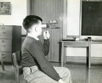 1944 Boy Using Stereoscope