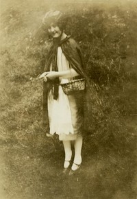 1925 Training School Girl in Costume