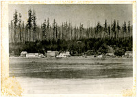 Whatcom tide flats with original brick courthouse built by T.G. Richards