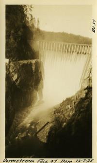 Lower Baker River dam construction 1925-12-07 Downstream Face of Dam