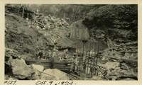 Lower Baker River dam construction 1924-10-09 Excavation activity at beginning of dam form work