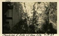 Lower Baker River dam construction 1925-09-19 Mucking E. Side of Dam Site