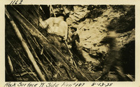 Lower Baker River dam construction 1925-08-13 Rock Surface W. Side Run #187