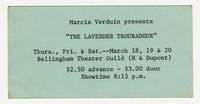 """Marcia Verduin presents """"The Lavender Troubadour"""""""