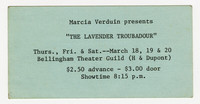 "Marcia Verduin presents ""The Lavender Troubadour"""