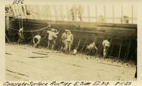 Lower Baker River dam construction 1925-08-11 Concrete Surface Run #185 E. Side El.313