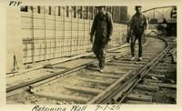 Lower Baker River dam construction 1925-07-01 Retaining Wall