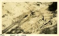 Lower Baker River dam construction 1924-09-11 Excavation on dam site