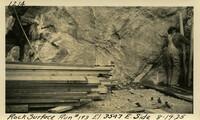 Lower Baker River dam construction 1925-08-19 Rock Surface Run #193 El.354.7 E. Side