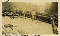 Lower Baker River dam construction 1925-08-15 Parapet Wall Forms