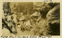 Lower Baker River dam construction 1925-04-26 Rock Surface E. Side Run #85