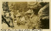 Lower Baker River dam construction 1925-04-26 Rock Surface E. Side Run #85