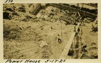 Lower Baker River dam construction 1925-05-17 Power House