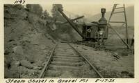 Lower Baker River dam construction 1925-08-17 Steam Shovel in Gravel Pit