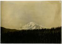 Mt. Baker beyond forested foothills