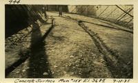 Lower Baker River dam construction 1925-07-11 Concrete Surface Run #158 El.3685